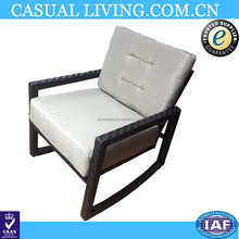 Outdoor Wicker/Rattan Rocking Chair With Cushion Patio Furniture Luxury Chair