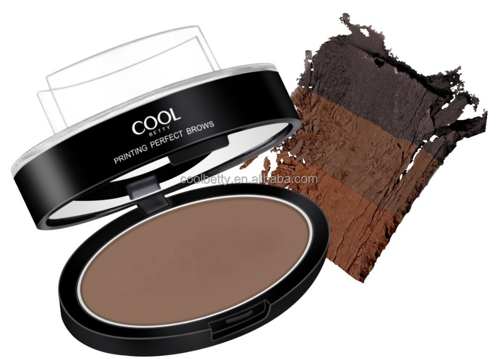 Cool betty new design waterproof eyebrow powder stamp with eyebrow stencil for eyebrow makeup