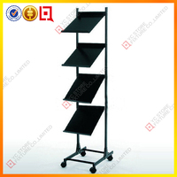 Hot sale iron brochure stand/magazine holder