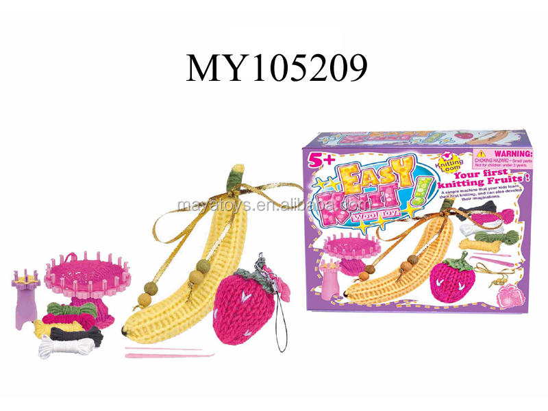 DIY knitting kit wool toy kids gift set Manual Knitting Wool Cross Stitch banana