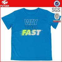 Plain Blue Custom Printing Logo Quick Dri Breathable Sports T Shirt Wholesale #FT16X015