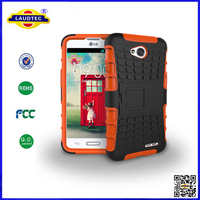 new design heavy duty durable case for LG L70 with kickstand, good selling Laudtec