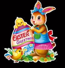 Easter Home Decoration ,3D Window/Wall/Door Sticker For Happy Easter Party