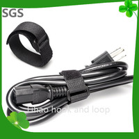 Black Reusable Fastening / Wire / Ties /Straps With Plastic Buckle