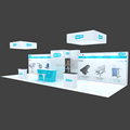 Detian Offer 4x12m Trade Show Aluminum Display Rack booth for Egerton