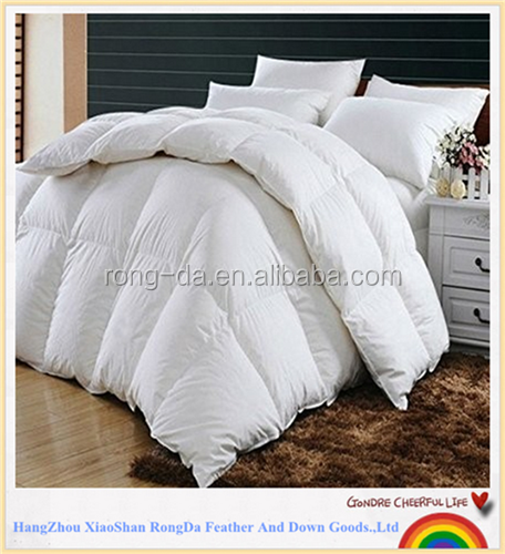 Quality White 50% Duck Down 50% Duck Feather Comforter Quilt Duvet Insert 100% 233 TC Cotton Protector Twin Size 68 x 86 inch