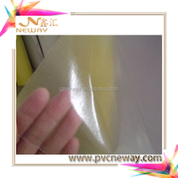 2017 PVC for sale rough/thin matte transparent adhesive laminating film for book A4 size sample