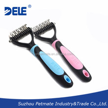 Pet Undercoat Rake, Professional Pet Dematting Comb Grooming Stripping Tool for Dogs and Cats