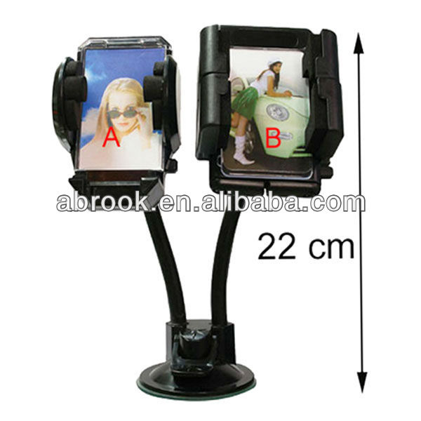 Universal dual car mount holder,car double cup holder,gps car mount