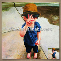 Popular Modern Handmade Boy Portrait Canvas Oil Painting