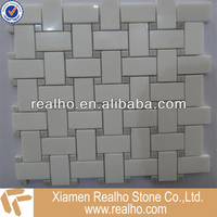 white and green color mixed marble mosaics