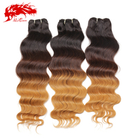 Nice day virgin peruvian hair extension sew in human hair weave ombre hair