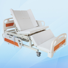 Full size cheap commode metal frame electric home care bed for patient