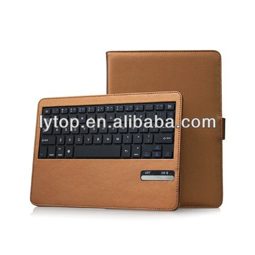 2015 New Fashion Detachable PU Leather Case with ABS Bluetooth Keyboard for iPad Air
