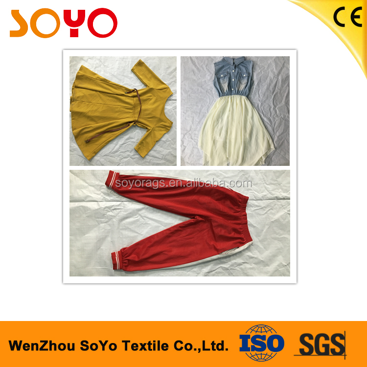 China market second hand clothes cream top quality sell second hand clothes 3/4 jeans