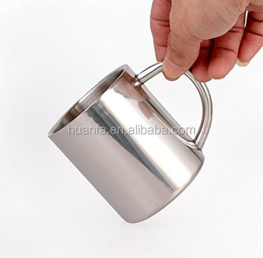 Food Grade Durable Safe BPA Free 304 Stainless Steel Double Wall Coffee Mugs / Tea Cups for outdoor camping mug