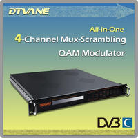 (DMB-5120)Cable TV Equipment 16*ASI or 4*ASI or 8*DVB-S2/S to QAM Modulator DIGITAL CATV Modulator for ASI to DVB-C/QAM out
