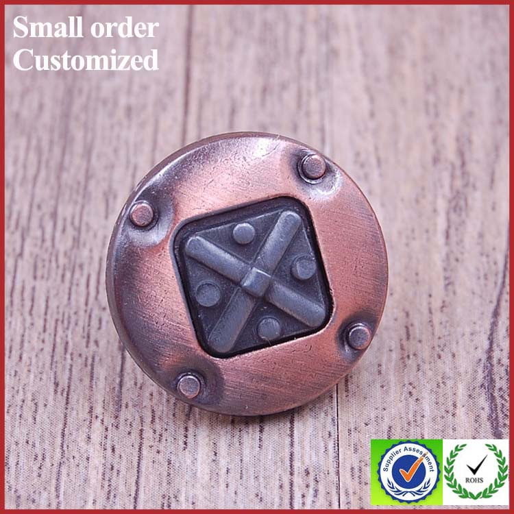 Custom antique copper push buttons chef coat switch stud garment buttons