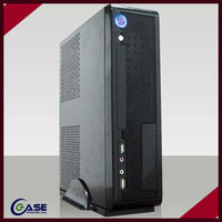 the newest black cabinet deluxe thin microitx computer case