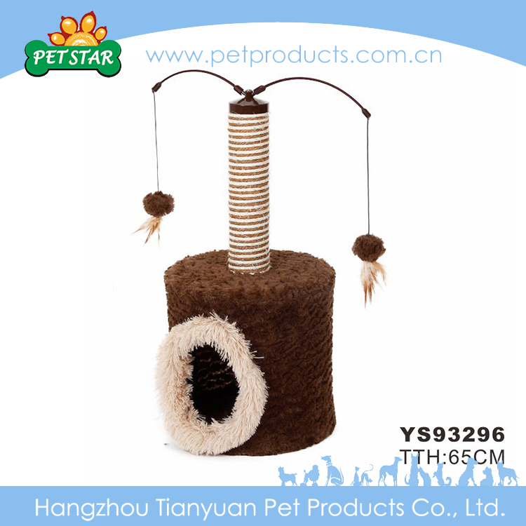 Cats Application and Stocked Eco-Friendly Feature Artificial Cat Trees