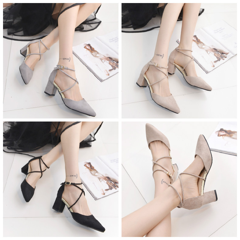 C73091A Ladies summer high heel shoes women casual shoes