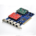 Like OpenVox A400P 4 Port Analog PCI card +2FXS+2FXO-Asterisk/Elastix/Trix VOIP