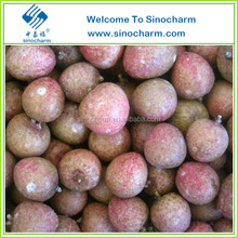 BRC Certified Blue Bamboo Variety Unpeeled Frozen Litchi Fruit