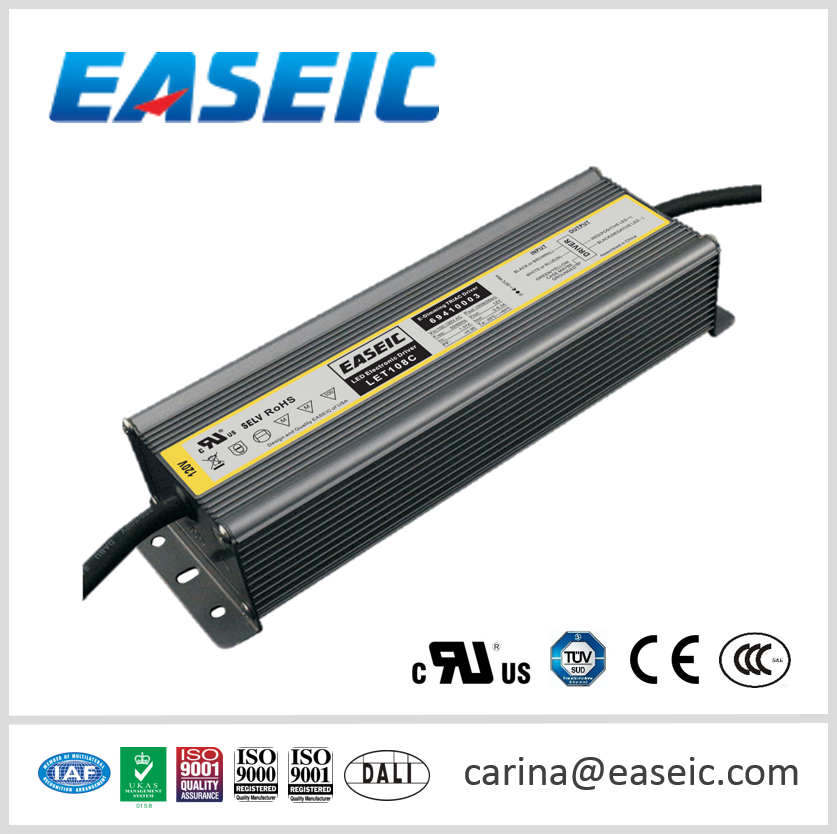 IP67 Aluminium Case Waterproof 100W Constant Voltage 12V Triac Dimmable LED Electronic Driver
