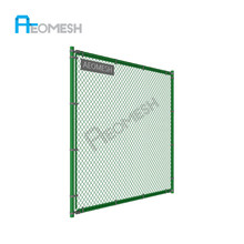 Sports Ground & Playground Most Popular Security Fence rubber coated chain link fence/used chain link fence post