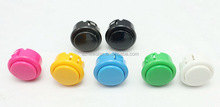 High Quality 33mm Round Momentary Contact Push Button Switch with Clipper for all arcade game machines,amusement games