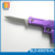 Mini Multitool Purple Gun Shape Pocket Gift Folding Knife With Keychain