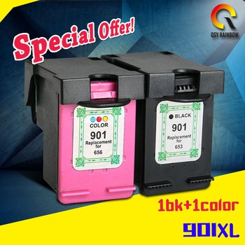 Officejet J4530, J4540, J4550, J45 with a chip 901XL printer ink cartridge for HP