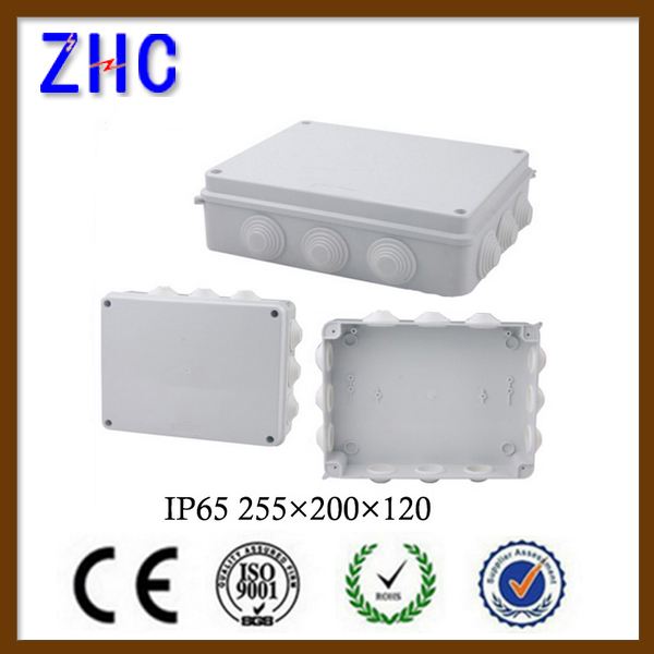 255*200*120 pvc waterproof IP65 outdoor cable junction box