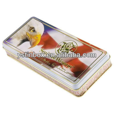 Special design metal small tin case for gift packing