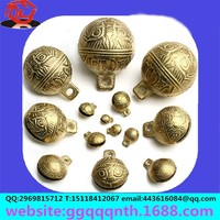 10MM-50MM Vintage Bronze Brass Metal Jingle Christmas Decoration Bell