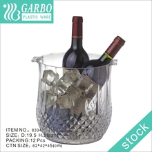 China Wholesale Clear Wine/Beer Alcohol Barware Ice Bucket Plastic