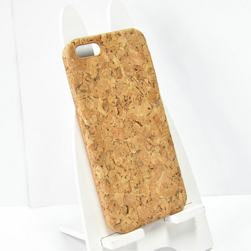 The Best Selling Natural Cork Wood Print Your Own Design Cell Phone Case Mobile for I Phone 5