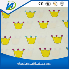 100% cotton crown print poplin fabric for baby bedding