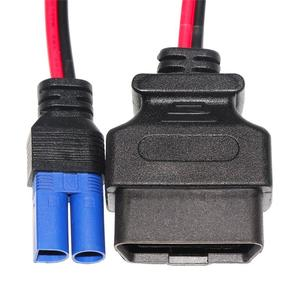 12v obd2 cable connector to EC5 plug J1962 power charging cable