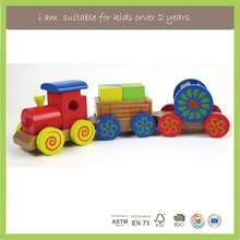 Promotional gift train set wholesale wooden baby toys for kids