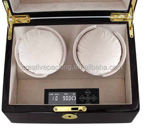 2+0 Lcd Digital Screen Newest Wood China Dual Automatic Watch Winder