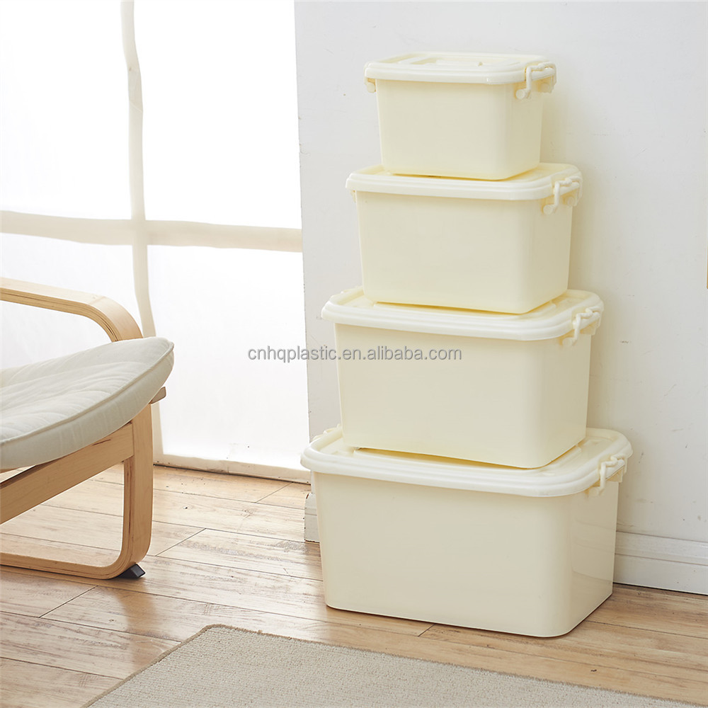 Plastic storage box with hinged lids small 6L lunch box container