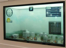 Stock product lcd video walls transparent led display/transparent LCD display/transparent LCD panel