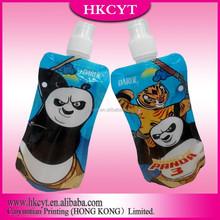 Wholesale custom printing three-layer laminated aluminum foil bag drink liquid pouch with spout for baby food