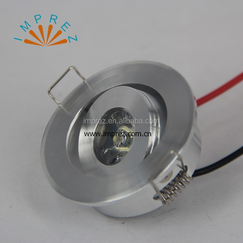 1W 3W led mini ceiling light LED mini downlight 85-265v out cut 45mm display showcase 2 years warranty