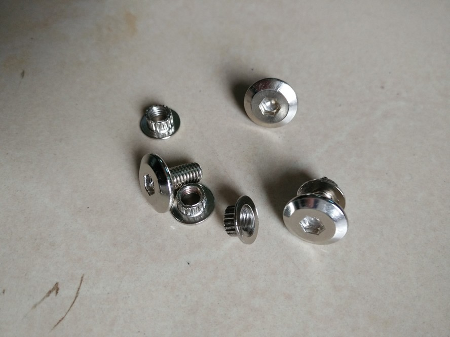 Silver finish Advertisement Nails Barrel Screws Glass Standoff Pins