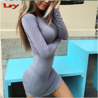 AliExpress Hot sales Europe and America sexy ladies bodycon one piece dress mature ladies cocktail dress