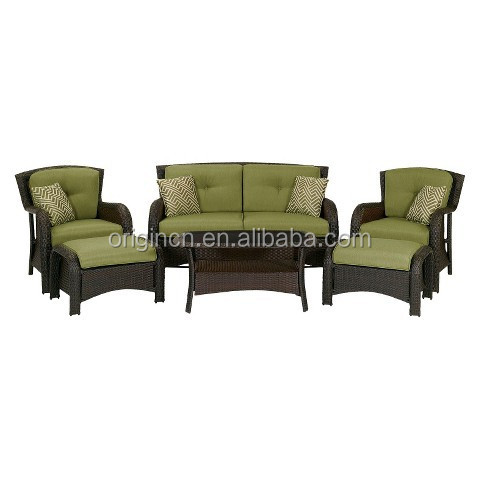 Outdoor/Indoor wicker chaise lounge chair with loveseat rattan sofa garden furniture import