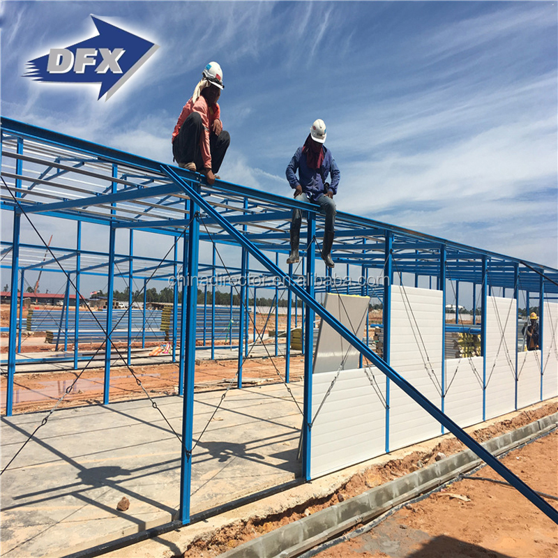 Widely Used Light Frame Metal Construction Prefab Steel Fabrication ...