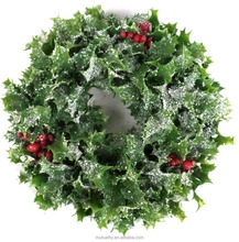 2016 HOT factory wholesale top quality New fresh evergreen wreath christmas wreaths for decoration